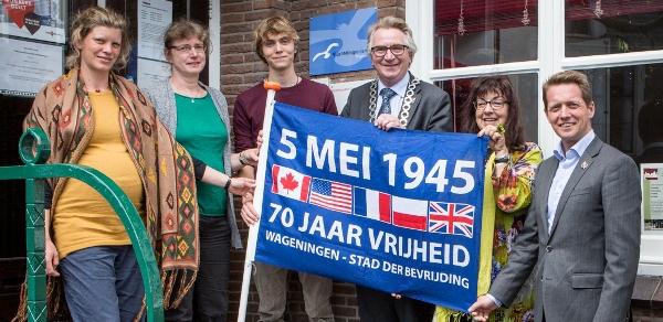 Jubileumvlag 70 jaar bevrijding Wageningen